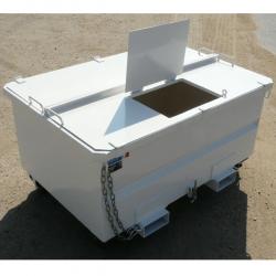 Benne pour chariot elevateur tete rotative sur socle galvanisée