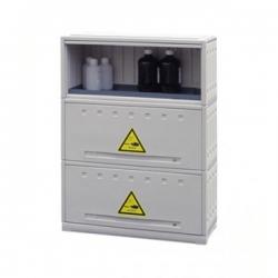 Armoire en polyéthylene 3 compartiments 105 L