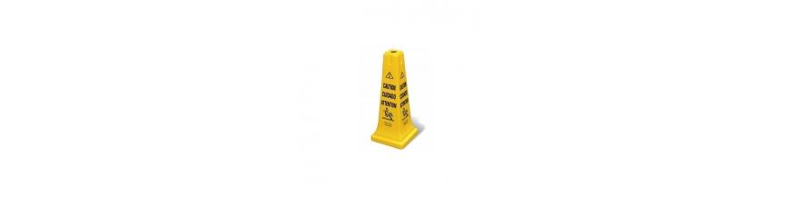 Cone signalisation avec balisage pliable